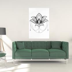 Canvas 24 x 36 - Ethnic lotus ornament