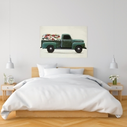 Canvas 24 x 36 - Flowers farm truck