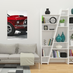 Canvas 24 x 36 - Classic red car