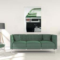Canvas 24 x 36 - Classic dark green car