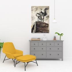 Canvas 24 x 36 - Vintage sticks and golf bag