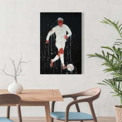 Canvas 24 x 36 - Soccer player