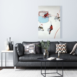 Canvas 24 x 36 - Eventful hockey game