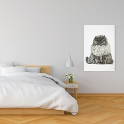 Canvas 24 x 36 - Blue gray persian cat