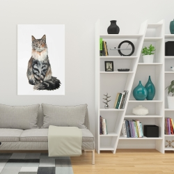 Canvas 24 x 36 - Norwegian forest cat