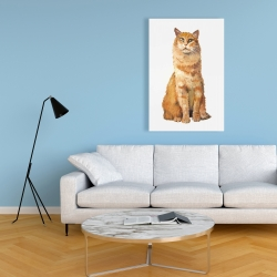 Canvas 24 x 36 - Ginger cat