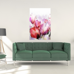 Canvas 24 x 36 - Abstract blurry tulips