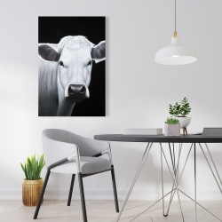 Canvas 24 x 36 - White cow