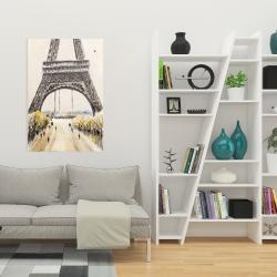 Canvas 24 x 36 - Eiffel tower with flying birds