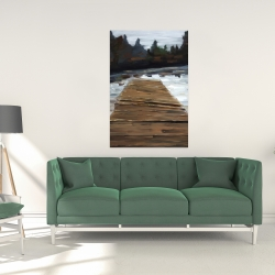 Canvas 24 x 36 - Dock and lake