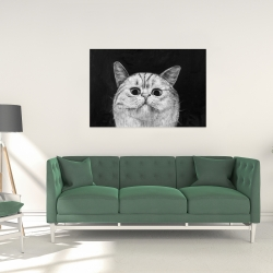 Canvas 24 x 36 - Watching cat