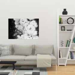Canvas 24 x 36 - Monochrome rose garden