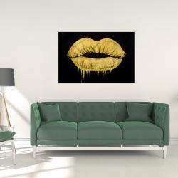 Canvas 24 x 36 - Golden lips