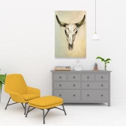 Canvas 24 x 36 - Color fading bull skull