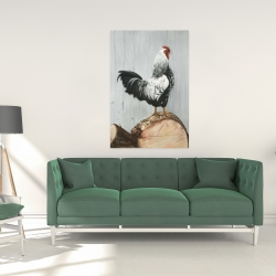 Canvas 24 x 36 - Wyandotte rooster
