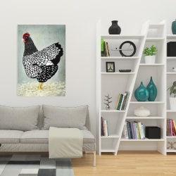 Canvas 24 x 36 - Wyandotte  hen