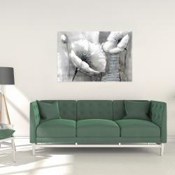 Canvas 24 x 36 - Industrial monochrome flowers