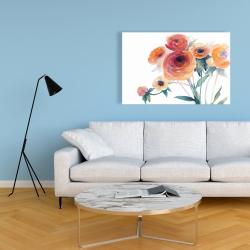 Canvas 24 x 36 - Watercolor flowers