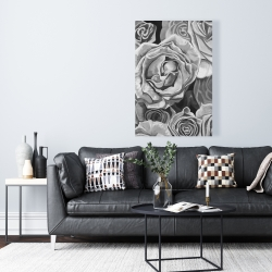 Canvas 24 x 36 - Grayscale roses