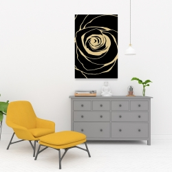 Canvas 24 x 36 - Black rose