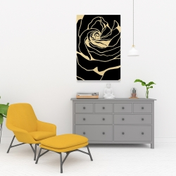 Canvas 24 x 36 - Cutout black rose