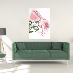 Canvas 24 x 36 - Watercolor pink roses