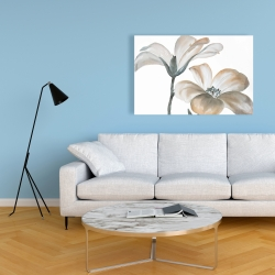 Canvas 24 x 36 - Beautiful desaturated flowers