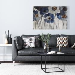 Canvas 24 x 36 - Blue blurry flowers