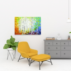 Canvas 24 x 36 - Colorful forest