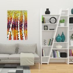 Canvas 24 x 36 - Colored birches