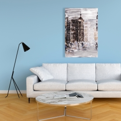 Canvas 24 x 36 - Industrial abstract city