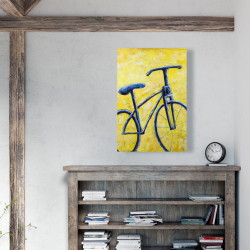 Canvas 24 x 36 - Blue bike abstract