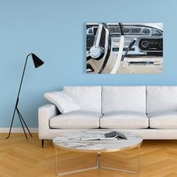 Canvas 24 x 36 - 1950s car dashboard