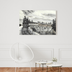 Canvas 24 x 36 - Steam engine train