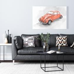 Canvas 24 x 36 - Vintage red beetle
