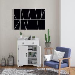 Canvas 24 x 36 - White stripes on black background