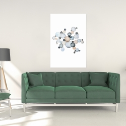 Canvas 24 x 36 - Grayish bubbles