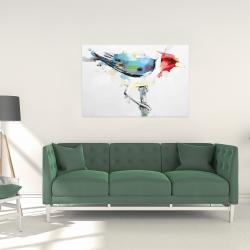 Canvas 24 x 36 - Colorful woodpecker
