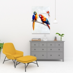 Canvas 24 x 36 - Parrots on a branch