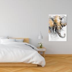 Canvas 24 x 36 - Beautiful golden elephant