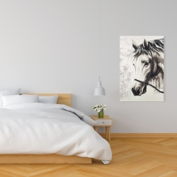 Canvas 24 x 36 - Alpha the white horse