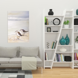 Canvas 24 x 36 - Two sandpipers on the beach