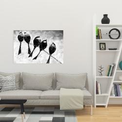 Canvas 24 x 36 - Five birds perched
