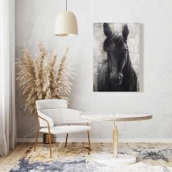Canvas 24 x 36 - Black horse