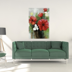 Canvas 24 x 36 - Abstract wild flowers bundle