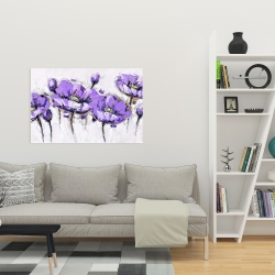 Canvas 24 x 36 - Abstract purple flowers