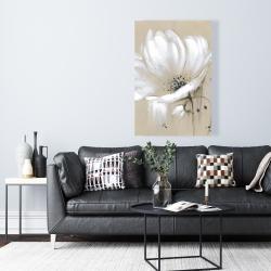 Canvas 24 x 36 - White abstract wild flower