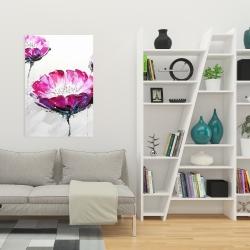 Canvas 24 x 36 - Pink wild flowers