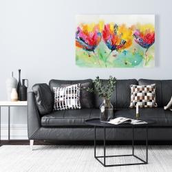 Canvas 24 x 36 - Four colorful flowers