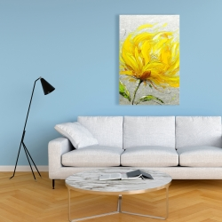 Canvas 24 x 36 - Yellow fluffy flower